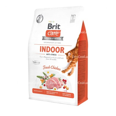 Сухой корм Brit Care Cat GF Indoor Anti-stress для кошек живущих в помещении
