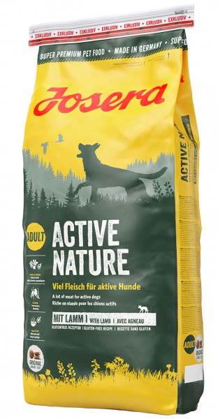 Сухой корм Josera Dog Active Nature для собак с двумя видами мяса и травами 15 кг