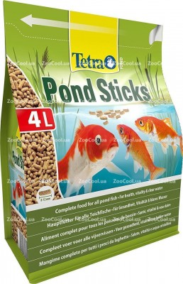 Основной корм для прудовых рыб Tetra Pond Sticks в палочках 4 л