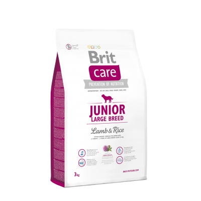 Сухой корм Brit Care Junior Large Breed Lamb & Rice для щенков и молодых собак крупных пород 3 кг