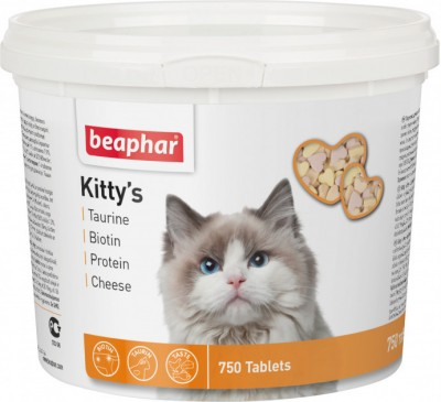 Витаминизированное лакомство Beaphar Kittys Mix для кошек 750 таблеток