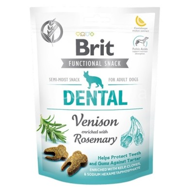 Лакомство для собак Brit Care Dog Functional Snack Dental Venison с олениной для зубов 150 г