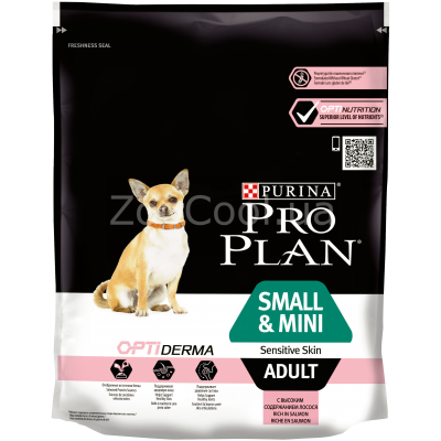 Сухой корм Purina Pro Plan Small & Mini Sensitive Skin с лососем 700 г