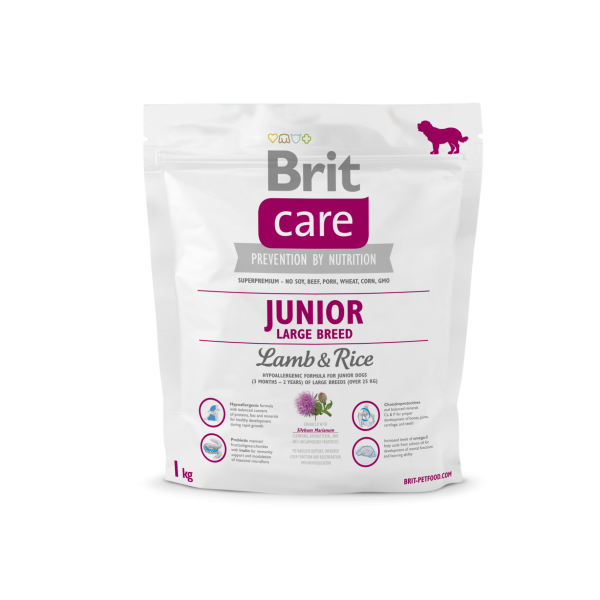Сухой корм Brit Care Junior Large Breed Lamb & Rice для щенков и молодых собак крупных пород 1 кг