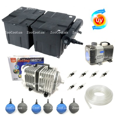 Набор для пруда SunSun Set CBF350B Full-UV24w до 60 000 л.