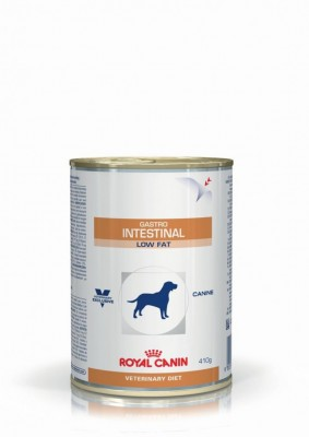 Влажный корм Royal Canin Gastro Intestinal Low Fat с ограниченным содержанием жиров при нарушениях пищеварения у собак 410 г